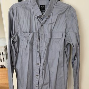 Armani exchange men long sleeve button down